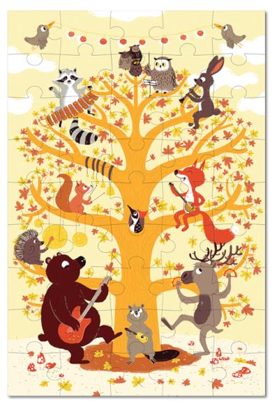 Quebra-Cabeça na Maletinha - Animais da Floresta - Krooom  - Loja da Verdê