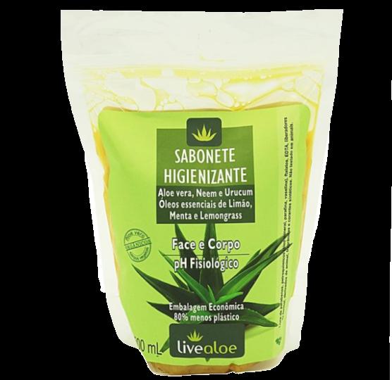 Refil Sabonete Líquido Antibacteriano Vegano e Orgânico - rosto, corpo e íntimo - Livealoe  - Loja da Verdê