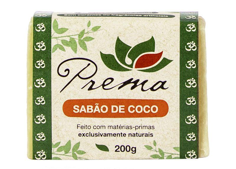 Sabão de Coco em Barra - 200g - Prema  - Verdê Cosméticos