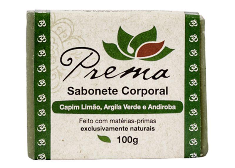 Sabonete Corporal Capim Limão, Argila Verde e Andiroba - peles mistas ou oleosas - Prema  - Verdê Cosméticos