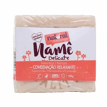 Sabonete e Shampoo Sólido Namê Delicate - Peles Sensíveis - Natural Messenger  - Verdê Cosméticos