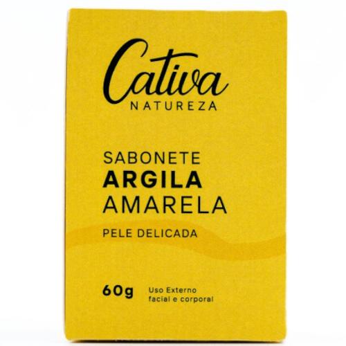 Sabonete Facial Argila Amarela - Pele Sensível - Cativa Natureza  - Loja da Verdê