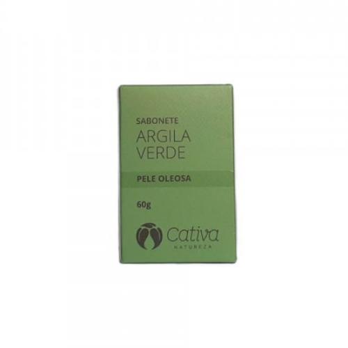 Sabonete Facial Argila Verde - Pele Oleosa - Cativa Natureza  - Verdê Cosméticos
