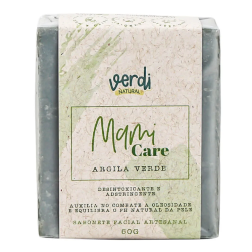 Sabonete Facial Argila Verde - pele oleosa - Verdi Natural  - Loja da Verdê