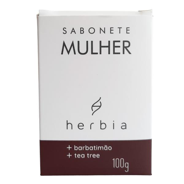 Sabonete Íntimo Mulher - Barbatimão e Tea Tree - Herbia  - Loja da Verdê