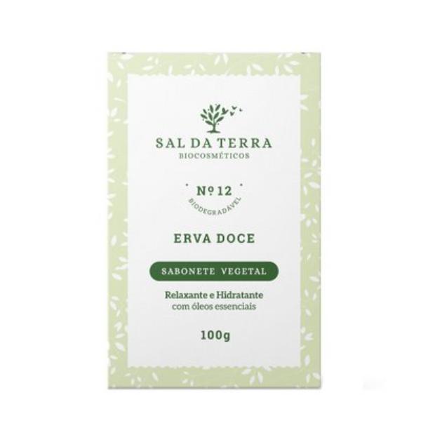 Sabonete Natural de Erva Doce - Relaxante e Hidratante - Sal da Terra  - Verdê Cosméticos