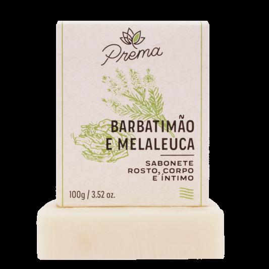 Sabonete Rosto, Corpo Barbatimão e Melaleuca - pele oleosa ou mista - Prema  - Loja da Verdê