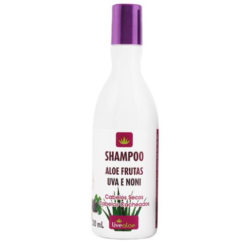 Shampoo Aloe Frutas Orgânico - cabelos secos ou cacheados - Livealoe  - Verdê Cosméticos