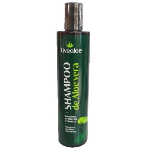 Shampoo Aloe Vera - cabelos normais a oleosos - Livealoe  - Verdê Cosméticos