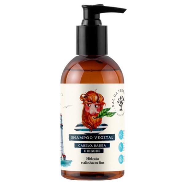 Shampoo Cabelo Barba e Bigode - Todos os Tipos de Cabelos - Sal da Terra  - Verdê Cosméticos