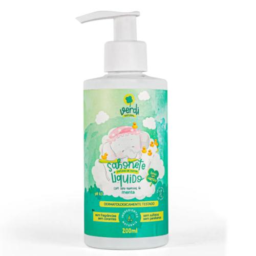 Shampoo e Sabonete Líquido Espuma de Vapor - Menta - Verdi Natural  - Loja da Verdê
