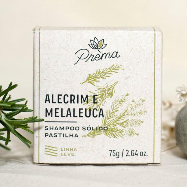 Shampoo Sólido - Alecrim e Melaleuca - cabelos oleosos - Prema  - Loja da Verdê