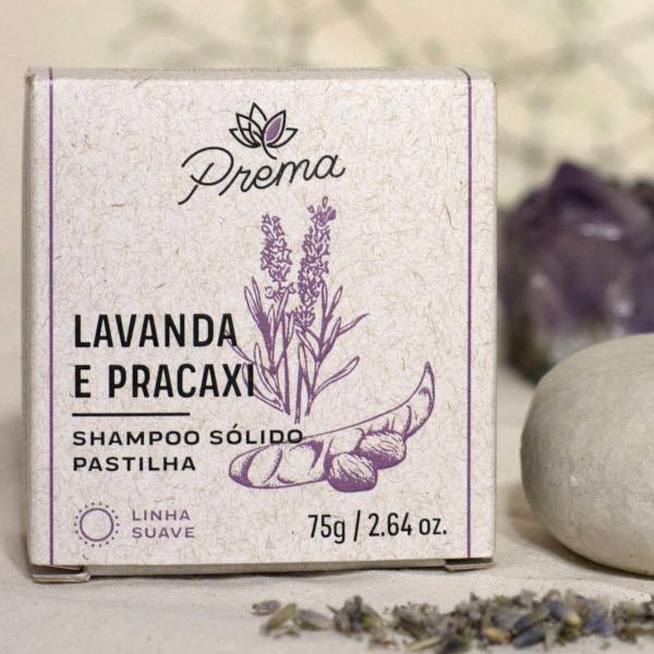 Shampoo Sólido Lavanda e Pracaxi - cabelos secos e cacheados - Prema  - Loja da Verdê