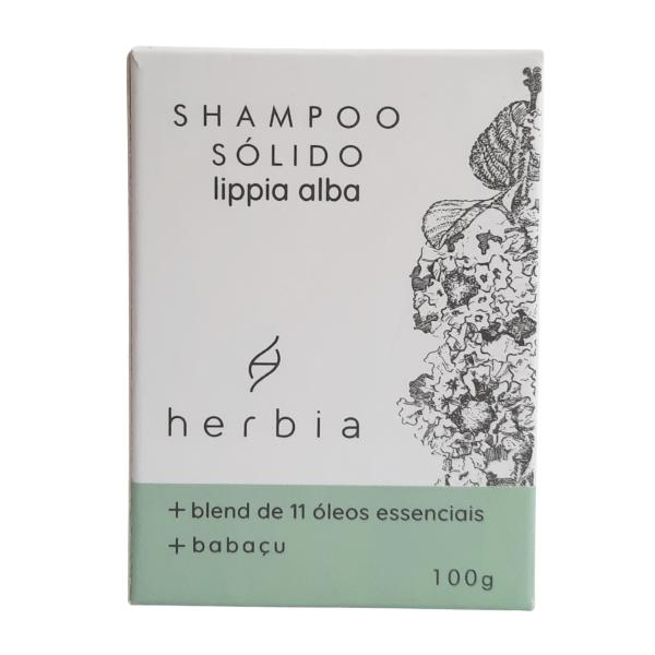 Shampoo Sólido Lippia Alba - Cabelos Oleosos - Herbia  - Loja da Verdê