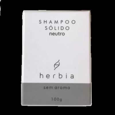 Shampoo Sólido Neutro Sem Aroma - Todos os Tipos de Cabelos - Herbia  - Verdê Cosméticos