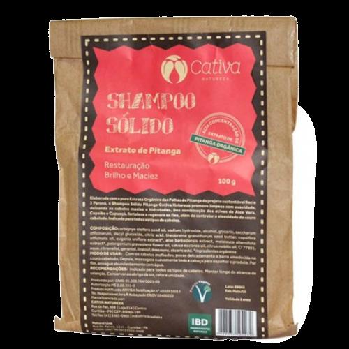 Shampoo Sólido Orgânico Pitanga - todos os tipos de cabelo - Cativa Natureza  - Verdê Cosméticos