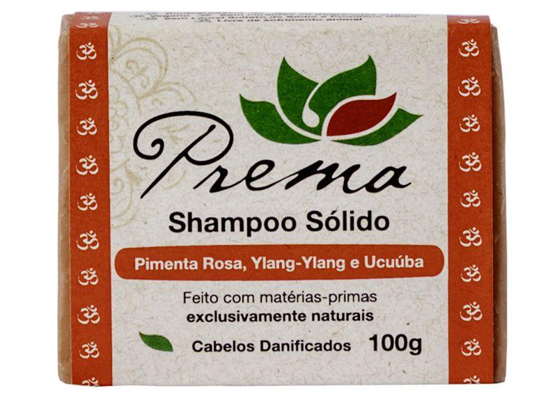 Shampoo Sólido - Pimenta Rosa, Ylang-Ylang e Ucuúba - cabelos danificados - Prema  - Verdê Cosméticos