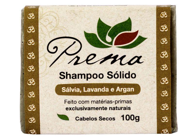 Shampoo Sólido Sálvia, Lavanda e Argan - cabelos cacheados - Prema  - Verdê Cosméticos