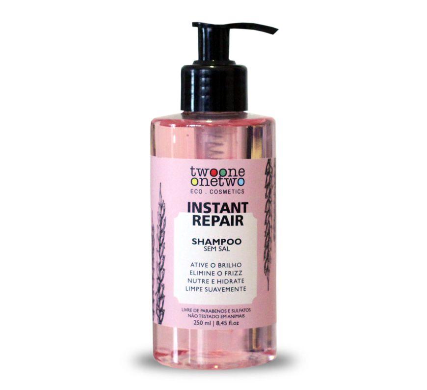 Shampoo Vegano Instant Repair - cabelo normal a seco - Twoone Onetwo  - Verdê Cosméticos