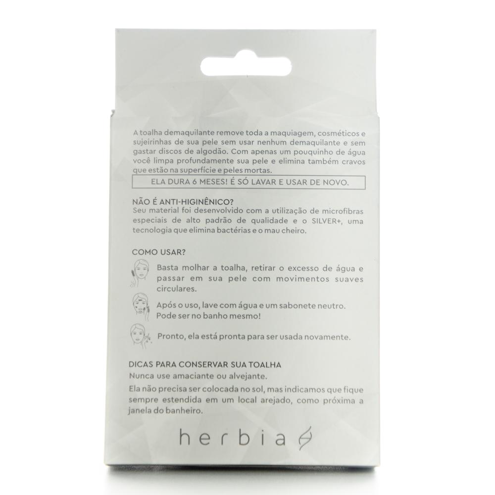 Toalha Demaquilante Ecológica - Herbia  - Loja da Verdê