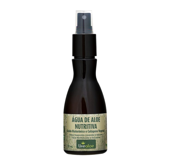 Tônico Facial Água de Aloe Nutritiva - pele madura - Livealoe  - Verdê Cosméticos
