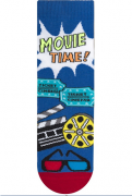 "Meia Infantil Menino ""MOVIE TIME"""
