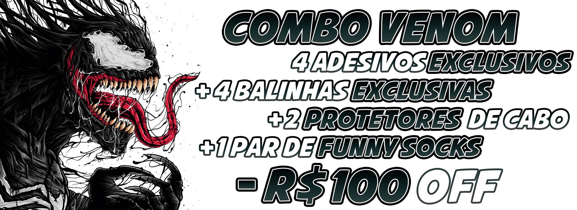 Combo Venom: 3 Cases com R$100 OFF  + Vários Recompensas 🎁🎁🎁