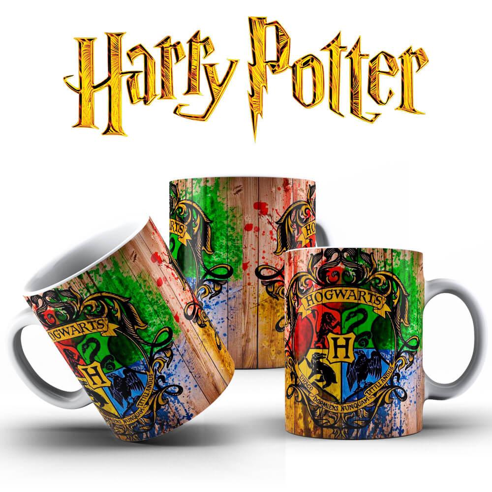 Caneca - Brasão Hogwarts