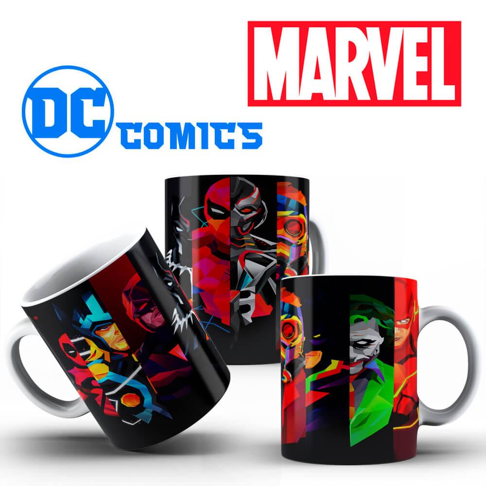 Caneca - Marvel e DC Comics