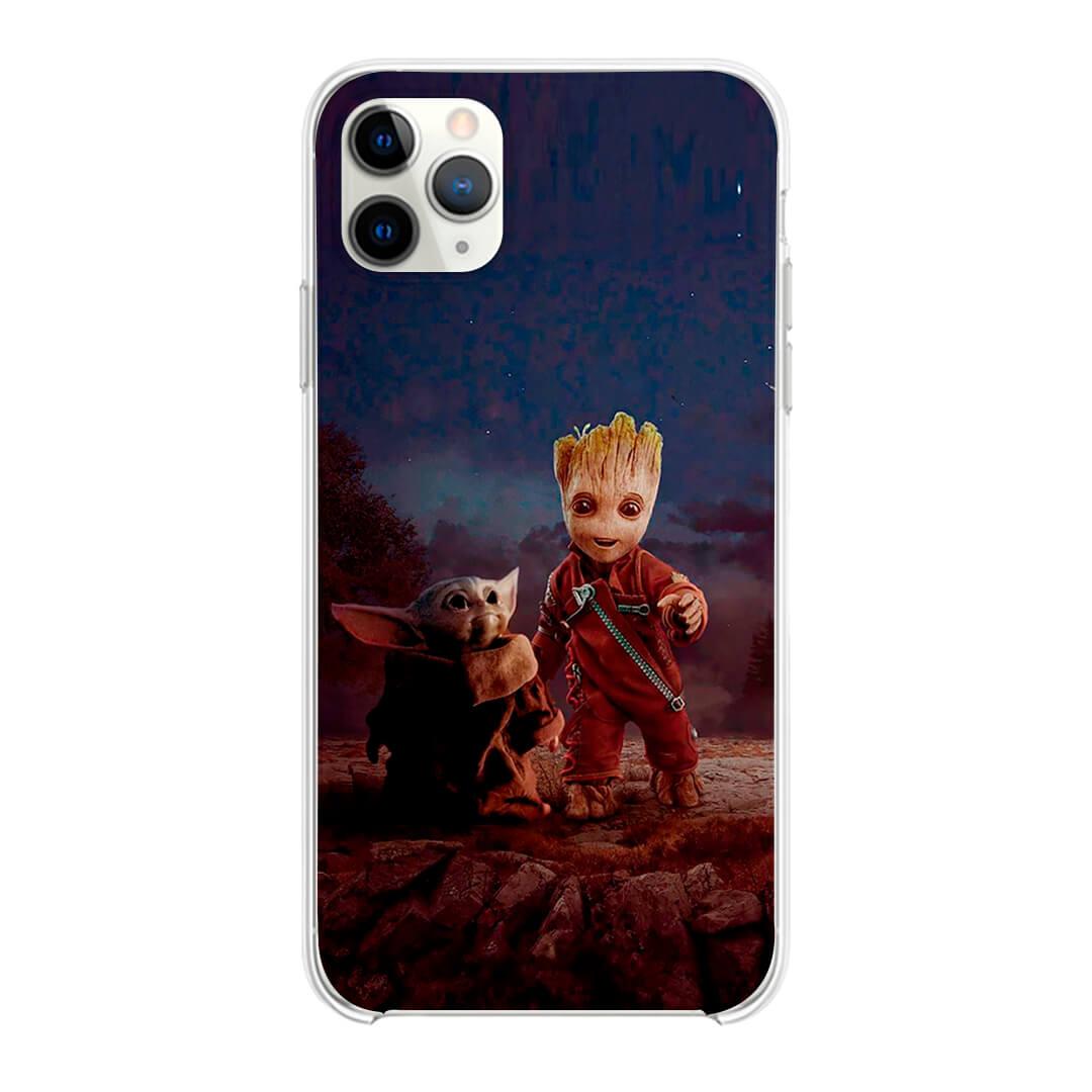 Capinha - Baby Groot  e Baby Yoda