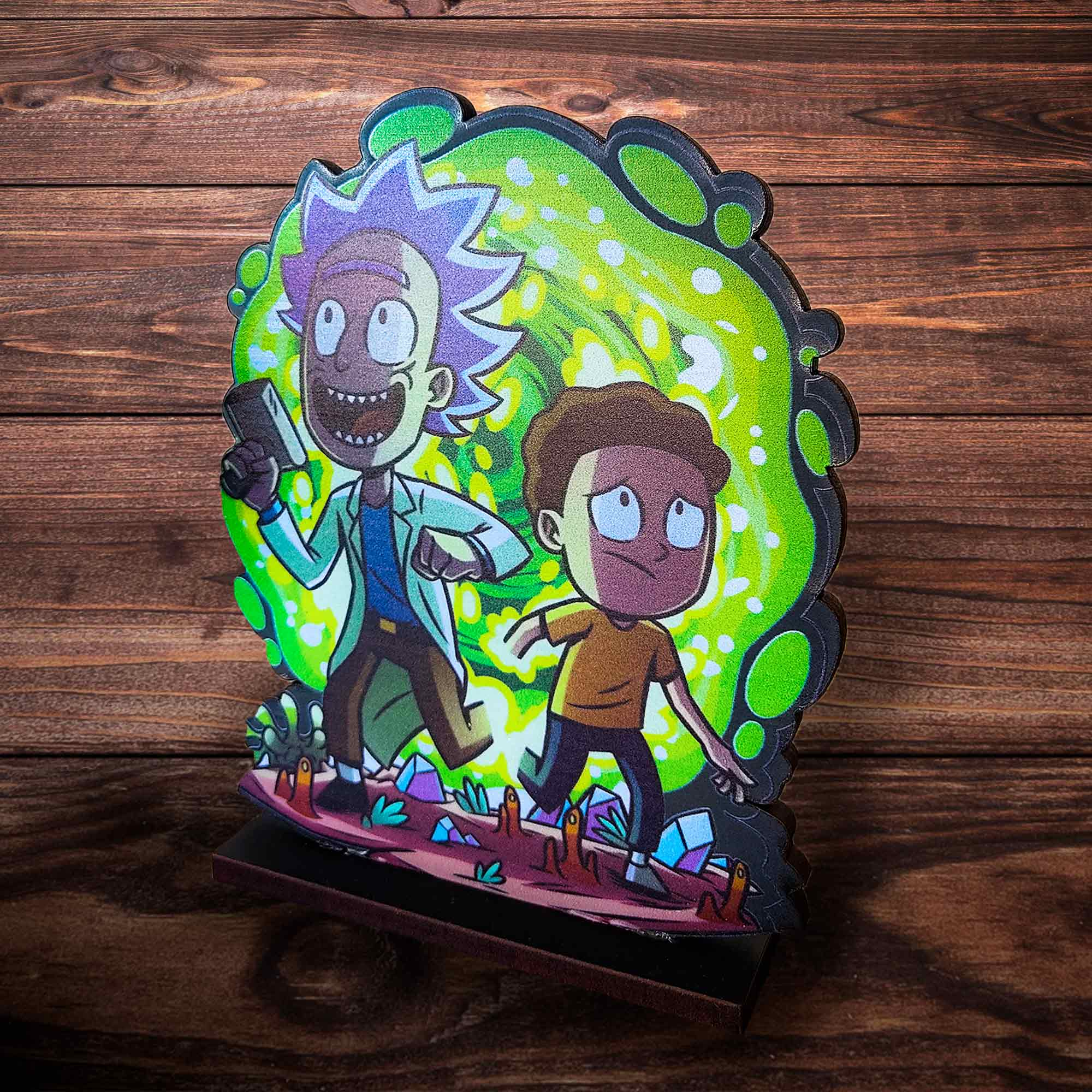 Estatueta Rick and Morty