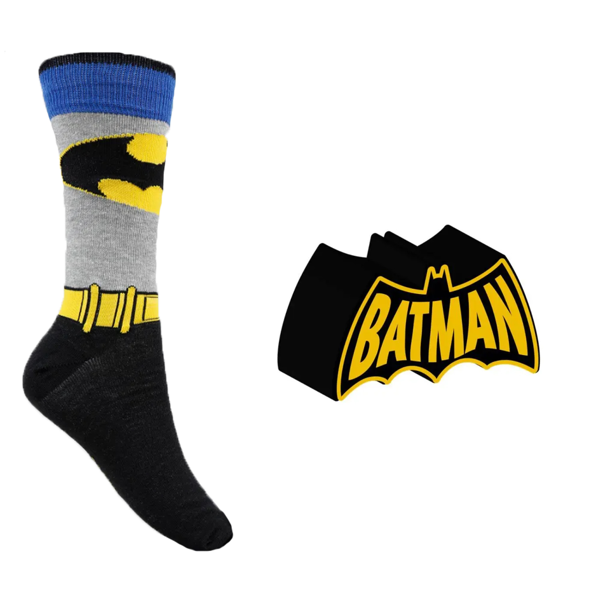 Meia Divertida - Batman Brasão