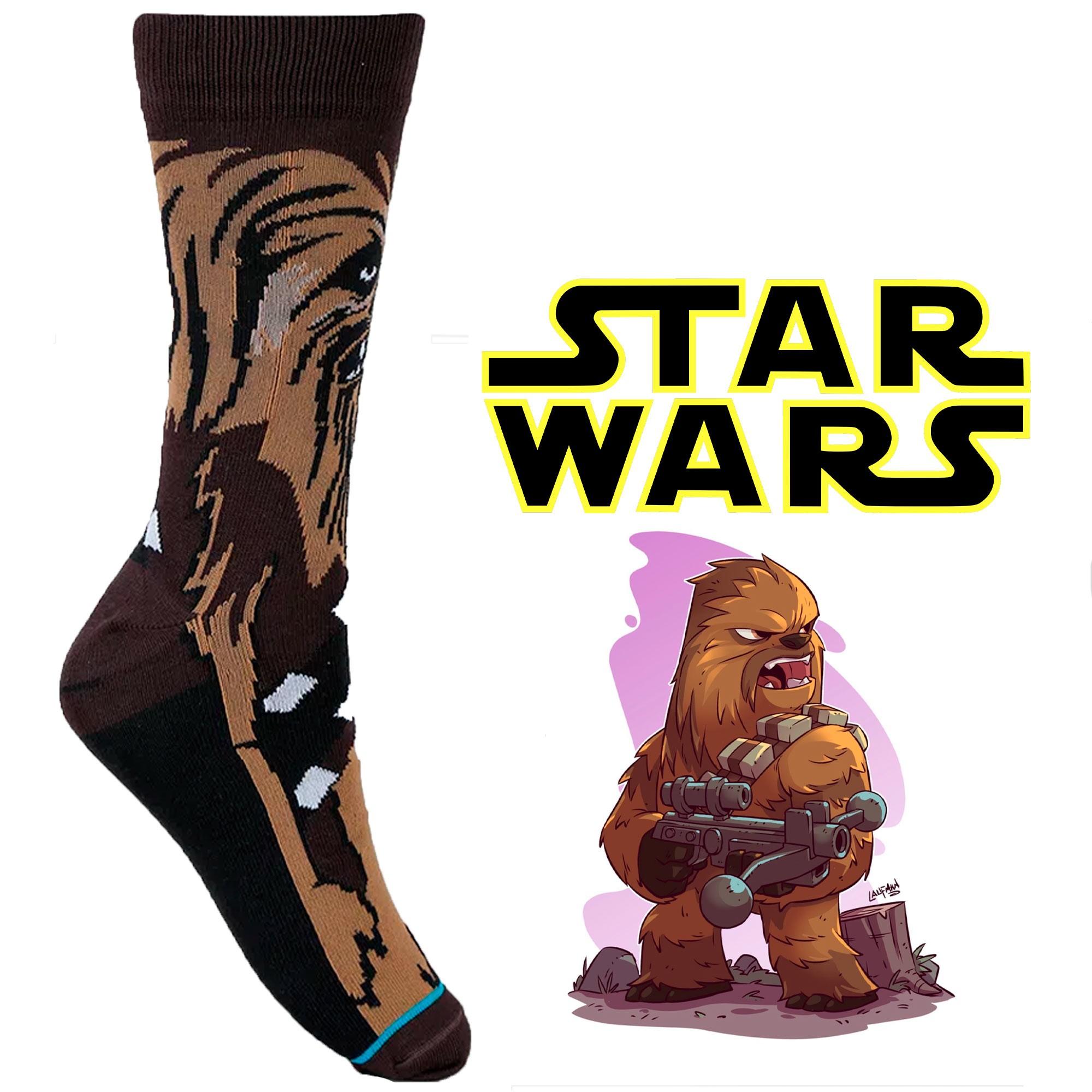 Meia Divertida - Chewbacca