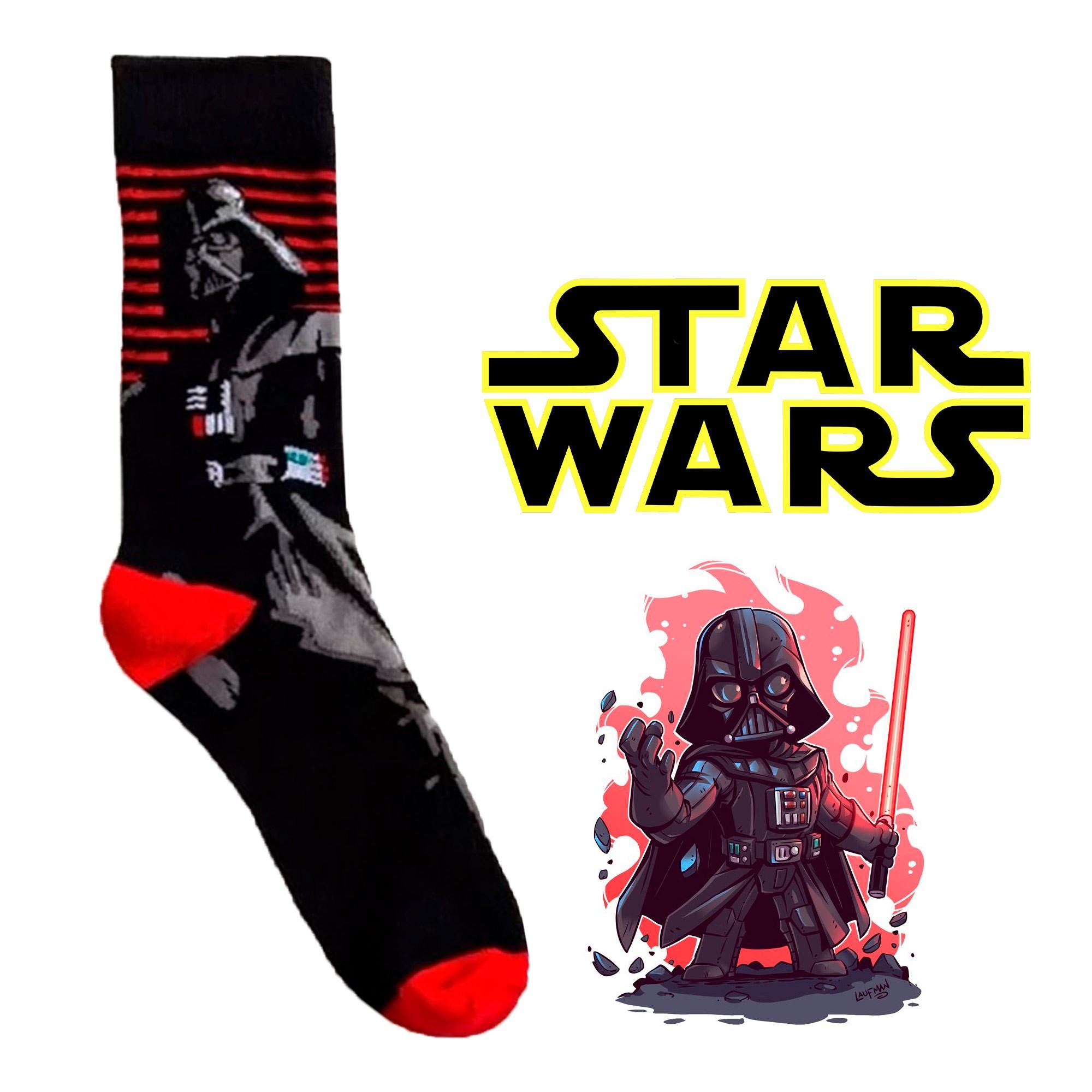 Meia Divertida - Darth Vader RED 🔴