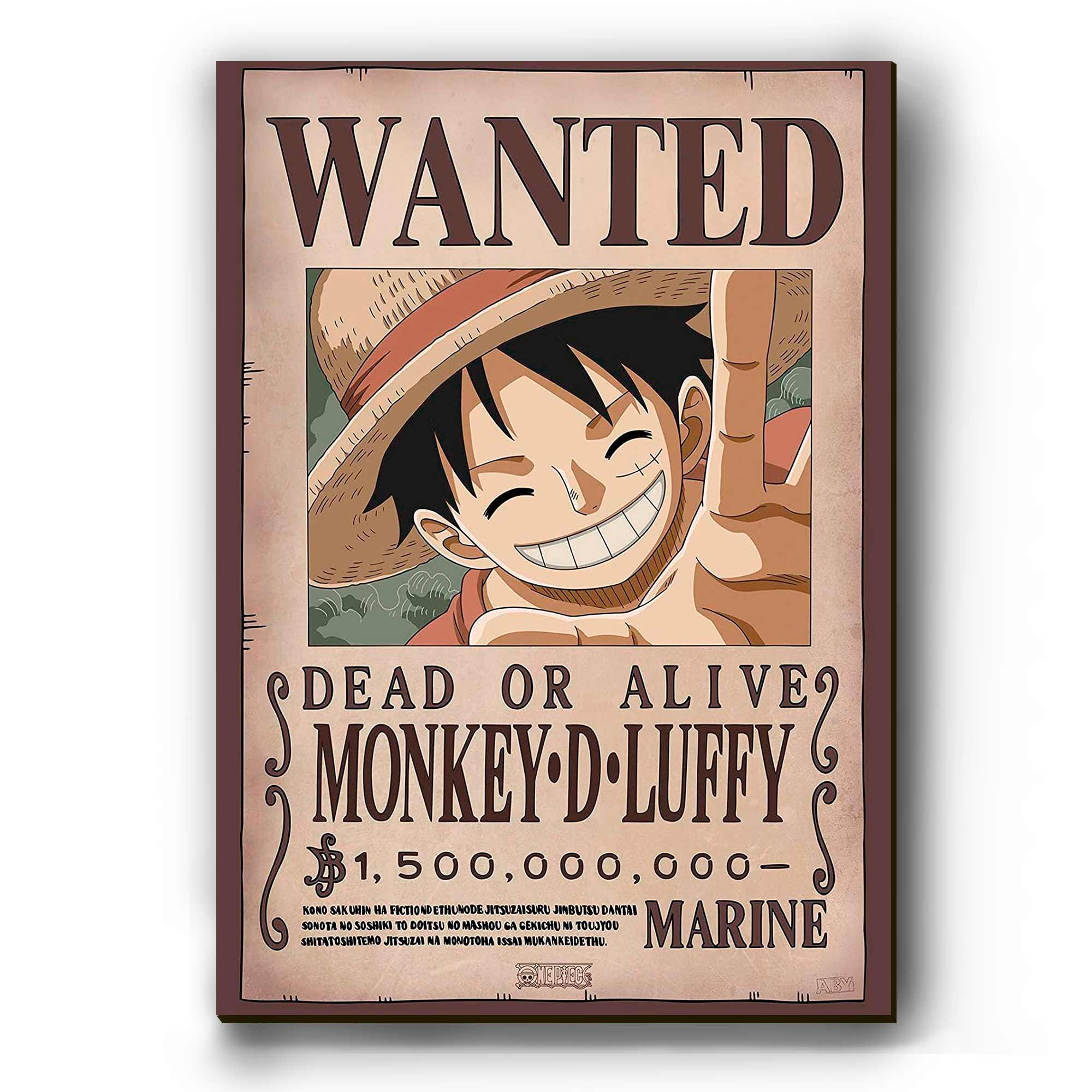 Quadro - Cartaz de Procurado Luffy