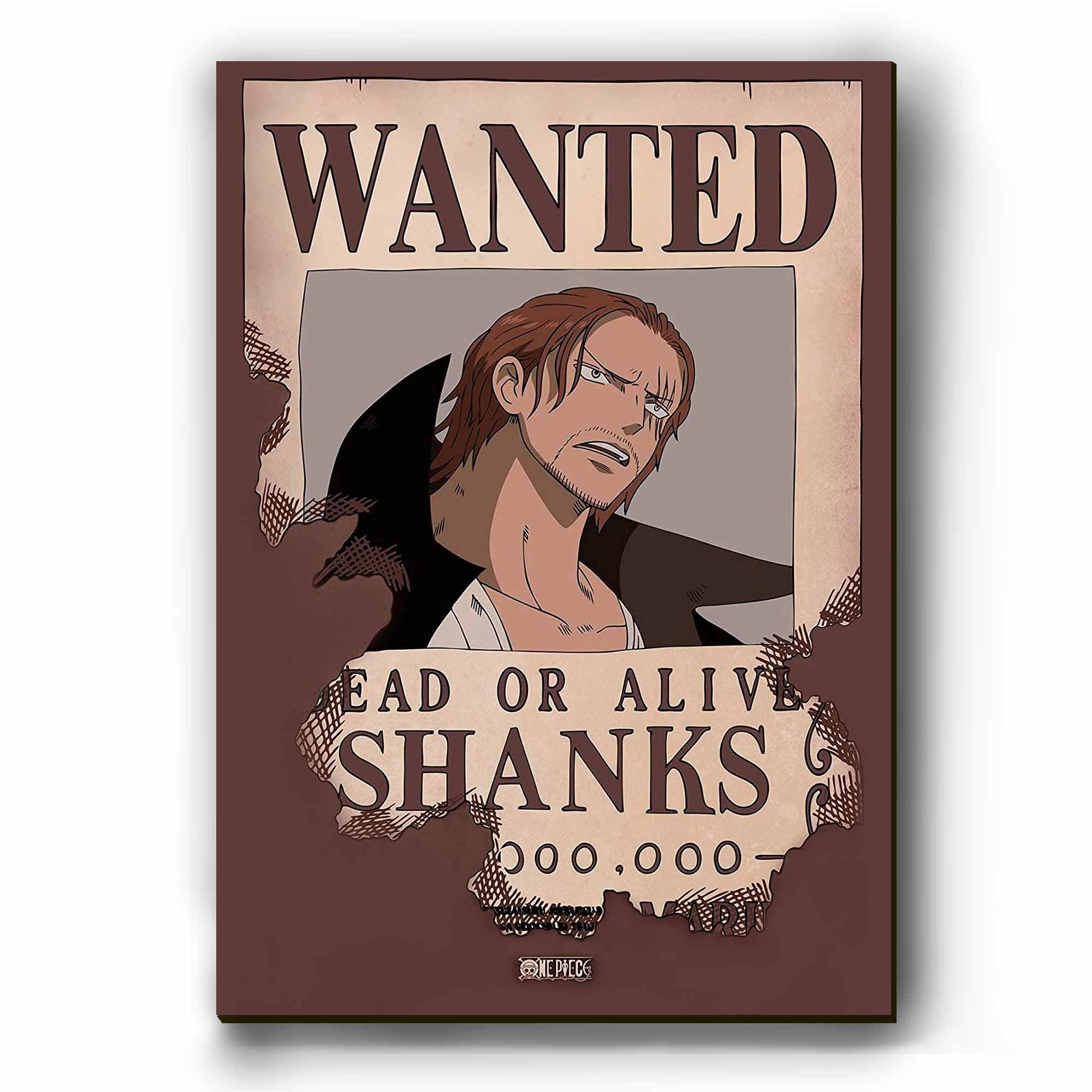 Quadro - Cartaz de Procurado Shanks