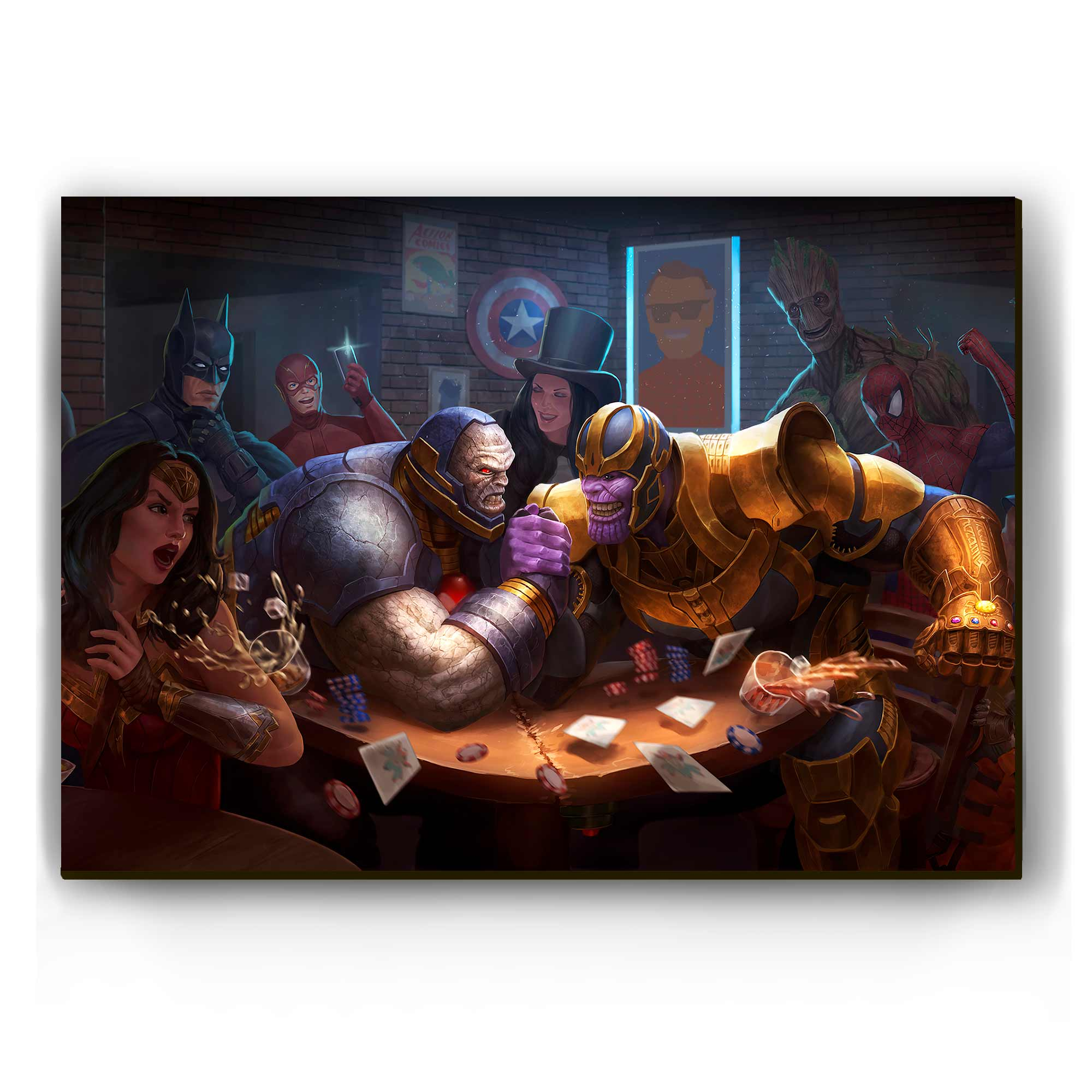 Quadro - Darkseid vs Thanos