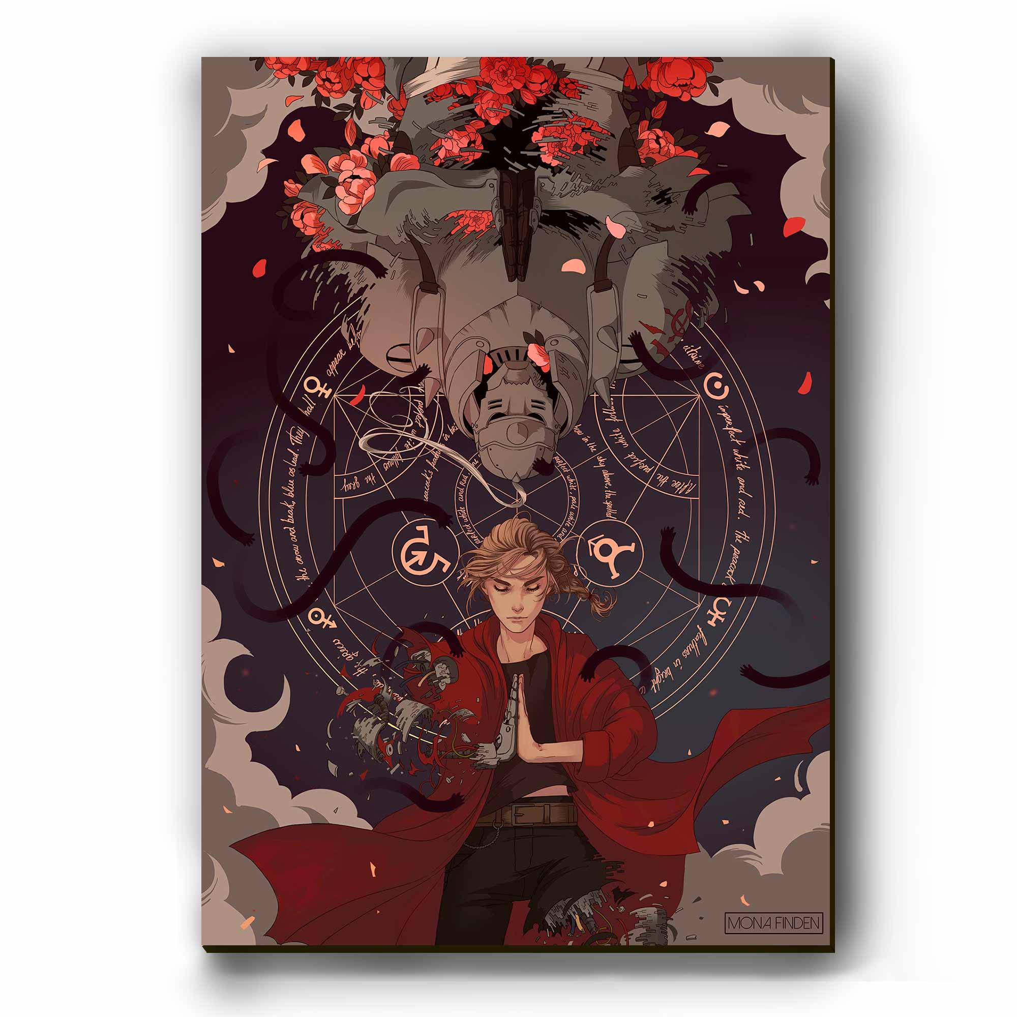 Quadro - Edward e Alphonse Elric