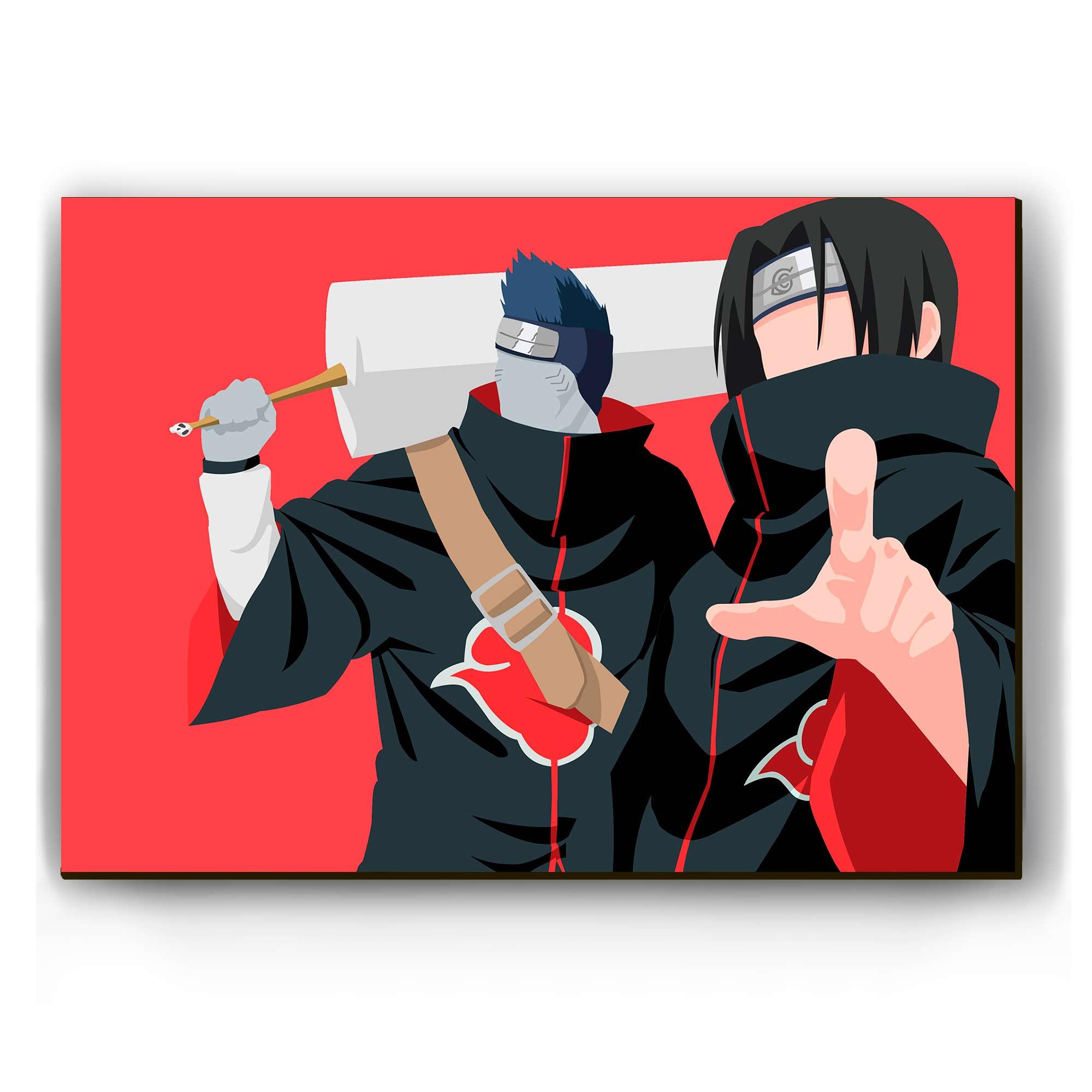 Quadro - Itachi e Kisame Minimalista