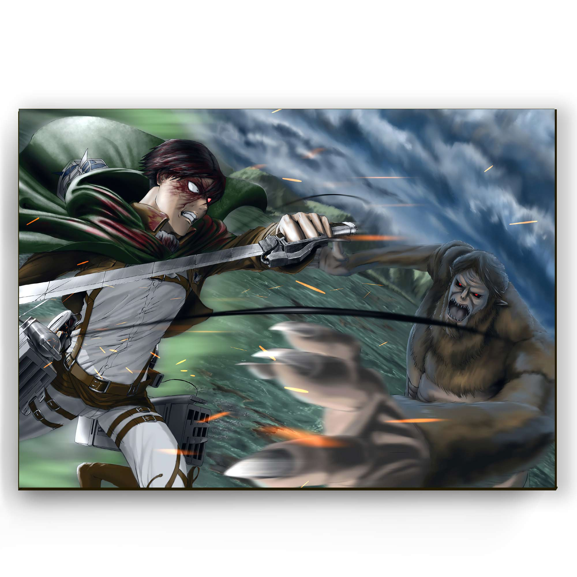 Quadro - Levi vs Titã Bestial