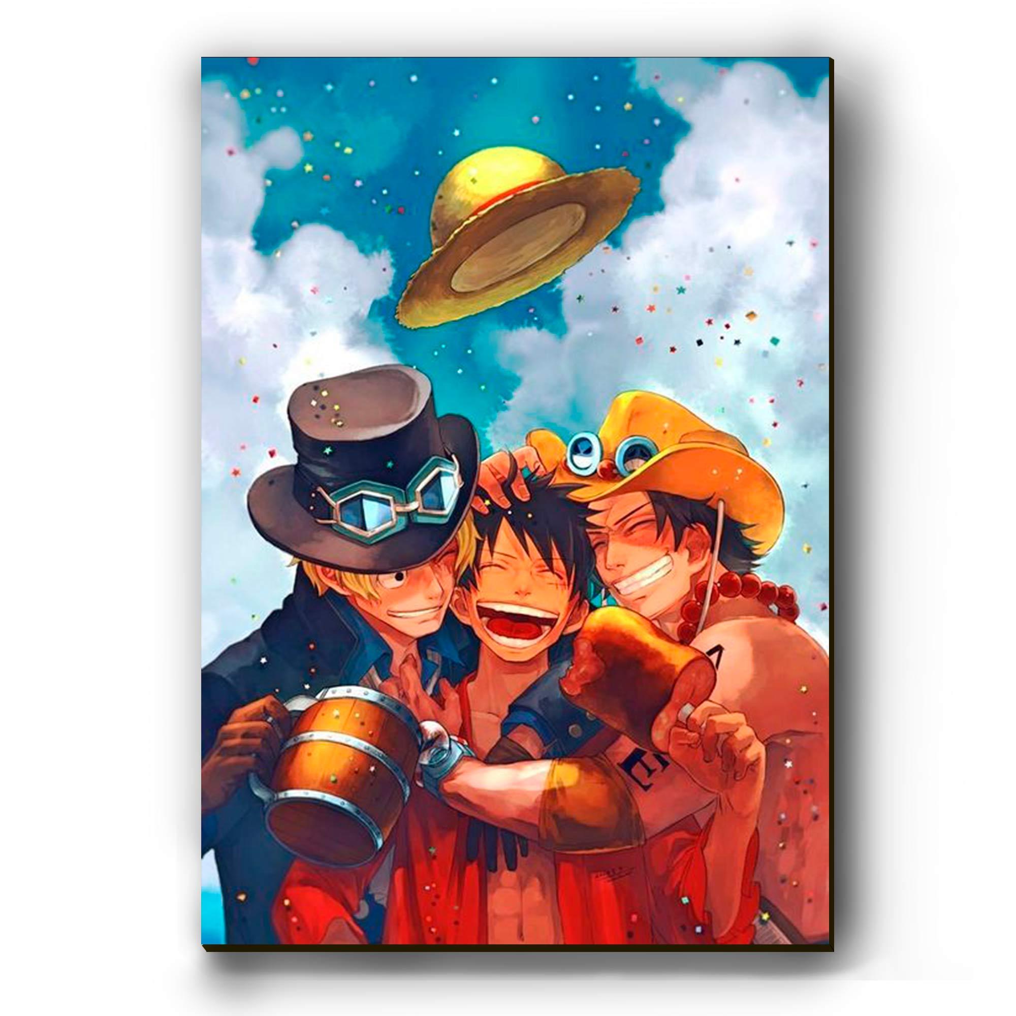 Quadro - Luffy, Ace e Sabo