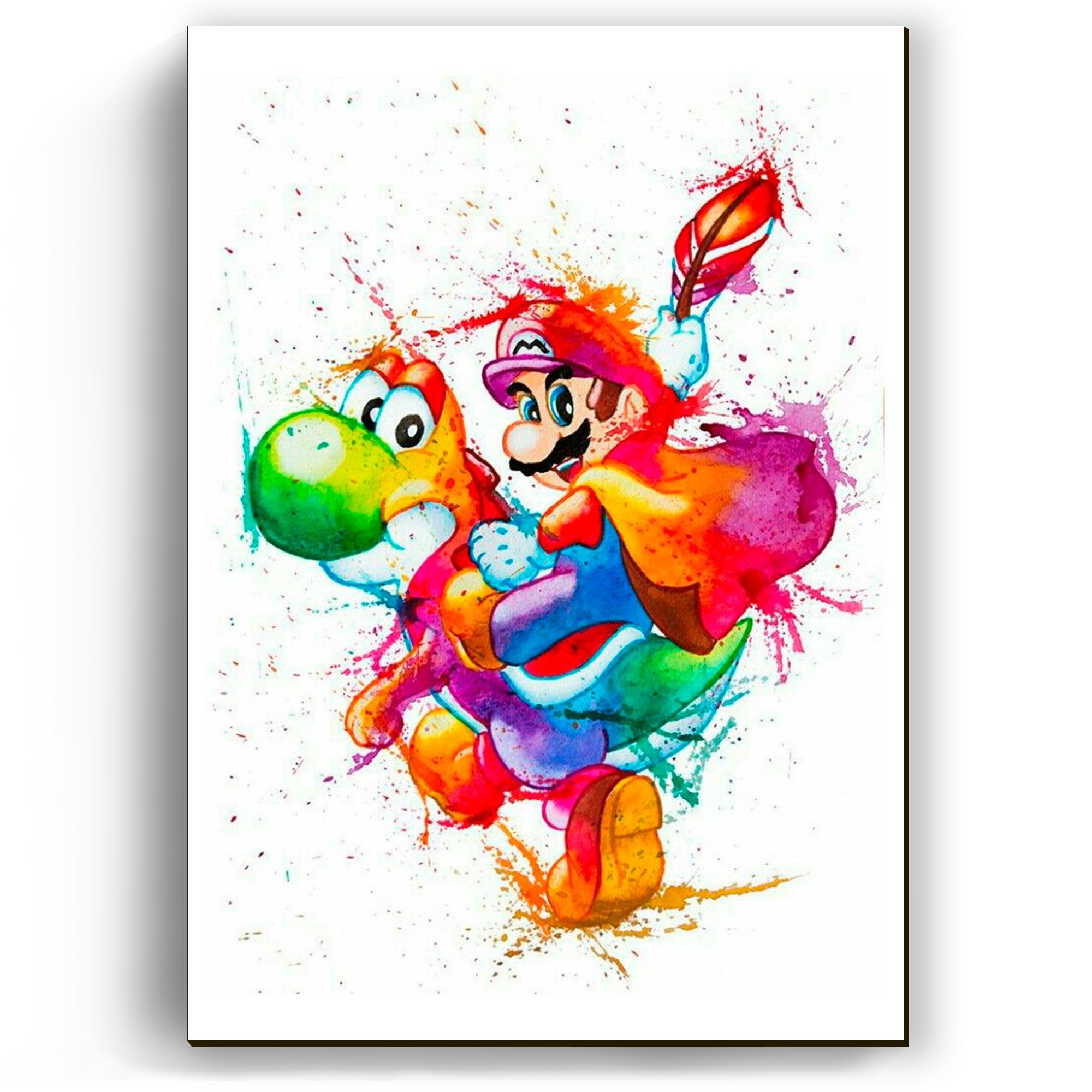 Quadro - Mario e Yoshi Splash