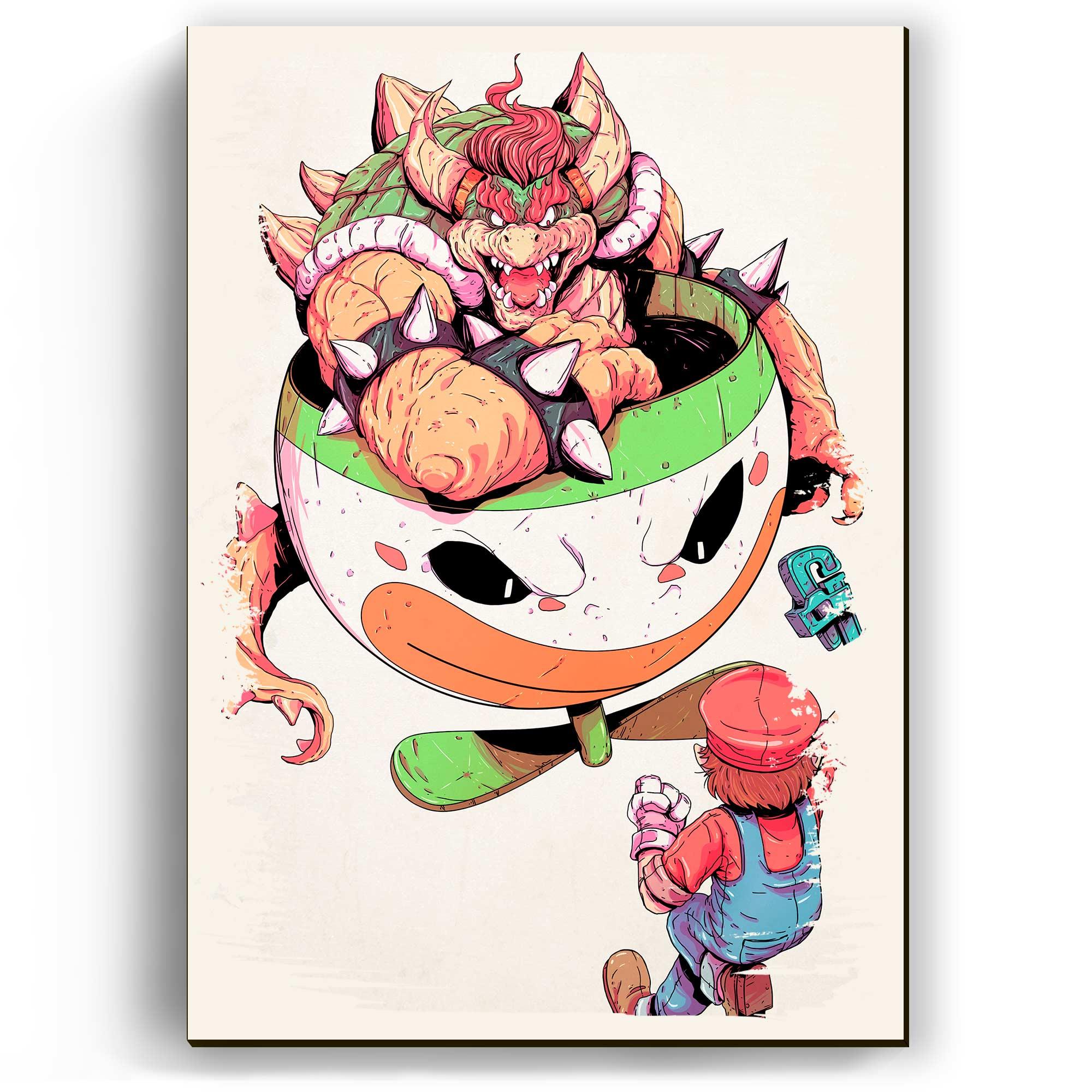 Quadro - Mario vs Bowser