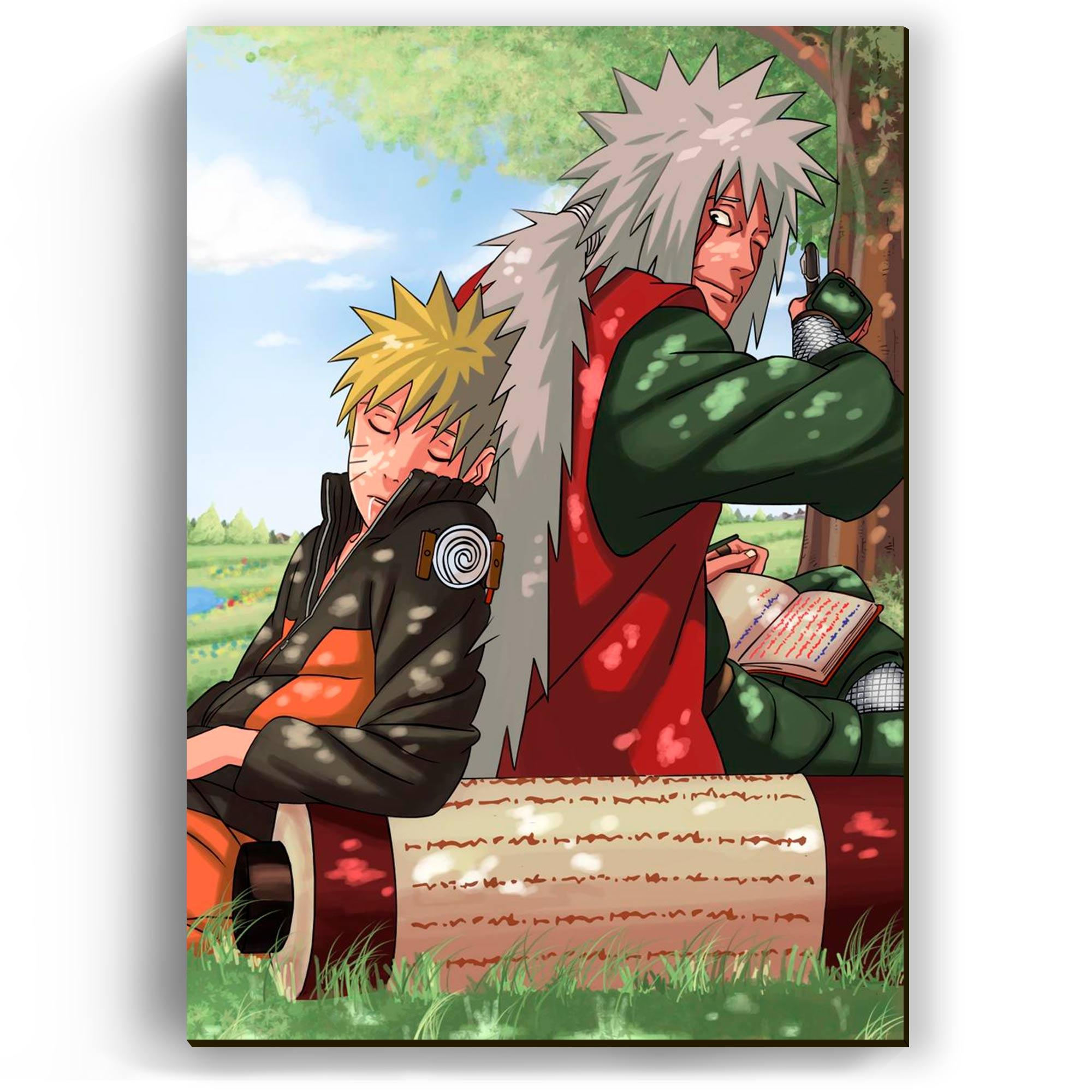 Quadro - Naruto e Jiraya