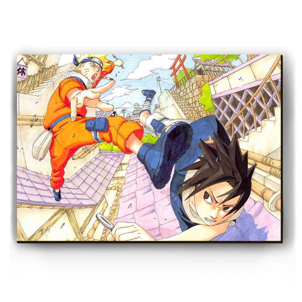 Quadro - Naruto vs Sasuke Clássico