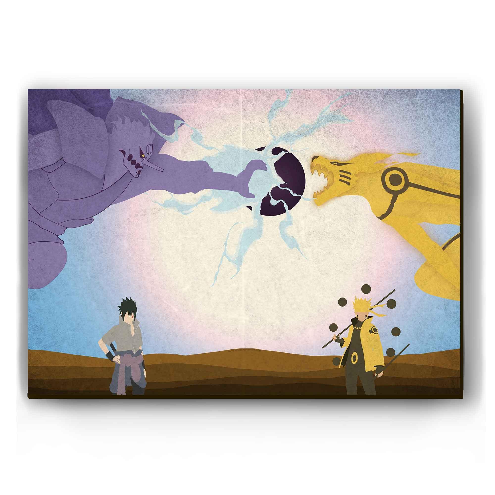 Quadro - Naruto vs Sasuke Shippuden