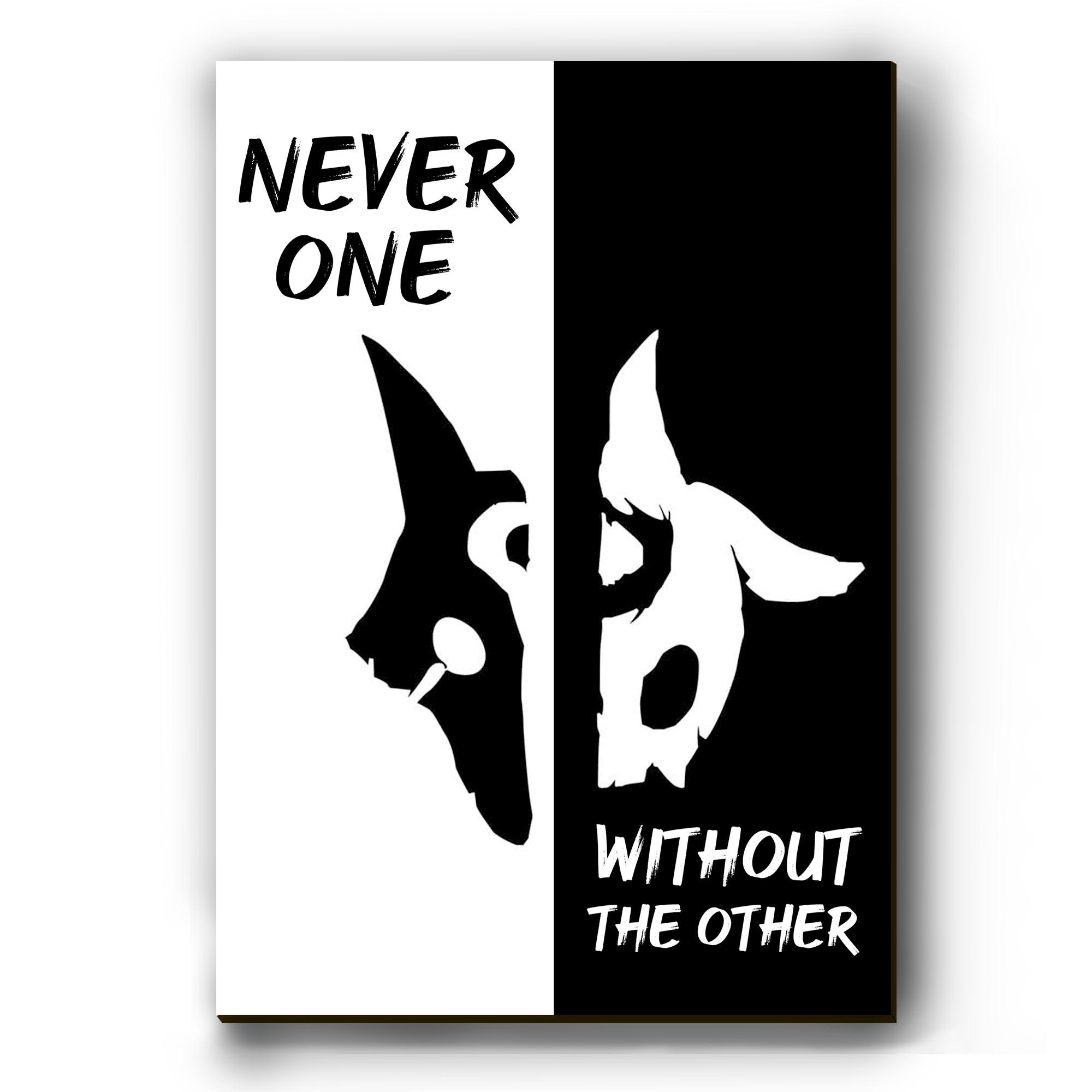 Quadro -  Nunca um, sem o Outro