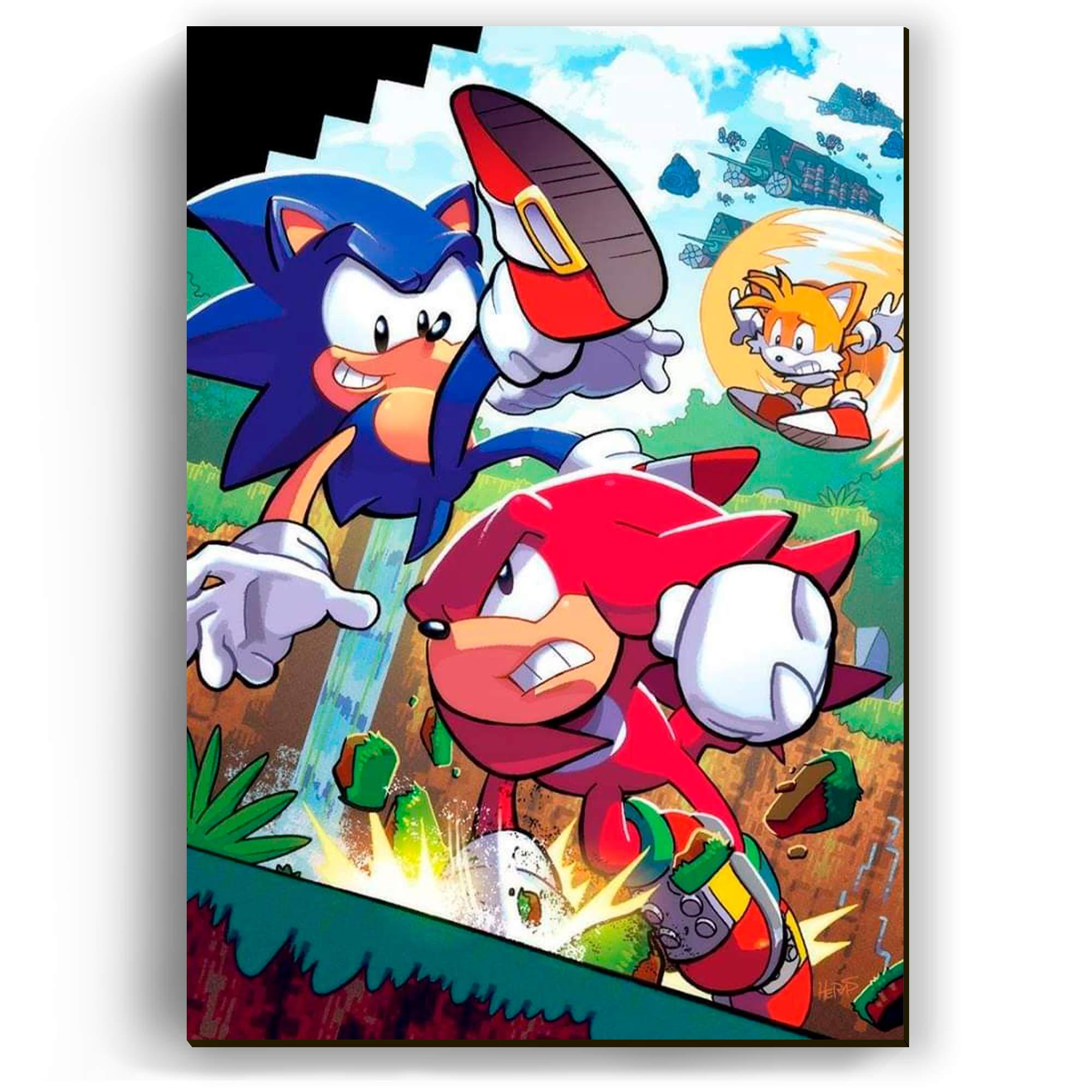 Quadro - Sonic, Tails e Knuckles