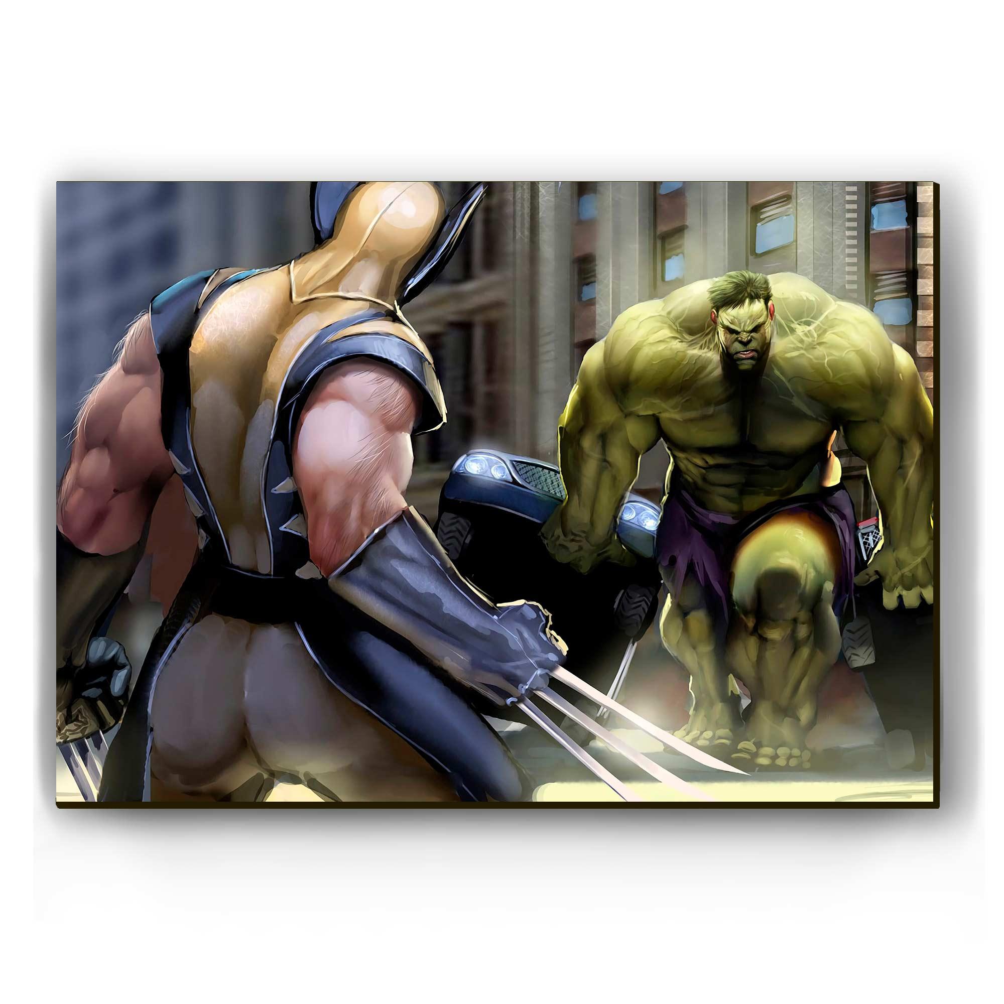 Quadro - Wolverine vs Hulk