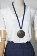 Colar azul medalha